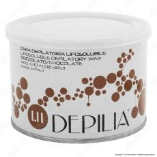 Depilia 1.11 Cioccolato Cera Depilatoria Liposolubile per Ceretta - 1 Barattolo da 400ml