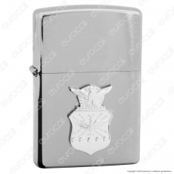 Accendino Zippo Mod. 280AFC Air Force Cres Placca - Ricaricabile Antivento