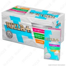 Rizla Ultra Slim Carbon  5,7mm Carboni Attivi - Box 20 Scatoline da 120 Filtri