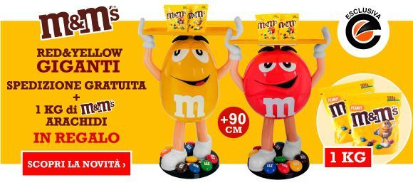 Nuovi Character Red & Yellow M&M's